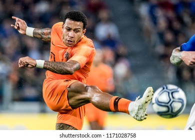 ITALY, TURIN / TORINO - July 4th 2018: Memphis Depay (Olympique Lyonnais) During the international friendly match Netherlands vs Italy at the Allianz Stadium / Juventus Stadium