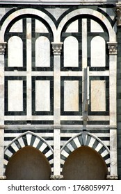 Italy, Tuscany / Florence – July 3, 2015: the Basilica of Santa Maria Novella is one of the most important churches in Florence by Leon Battista Alberti. Beautiful embroideries and drawings of marbles