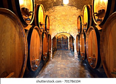 Italy Tuscany Montepulciano July 2017 Wineries of the famous Nobile Wine of Montepulciano