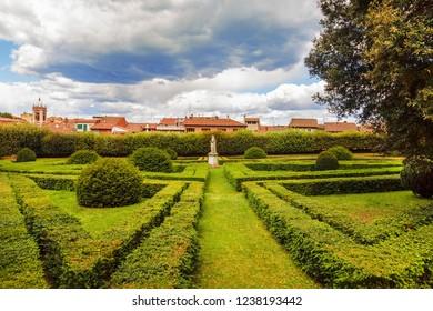 Italy, Tuscany region, San Quirico d'Orcia. Famous Italian garden of Horti Leonini