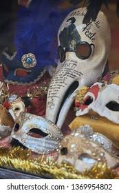 Italy, Venice - 12.30.2012. carnival masks - a symbol of Venice