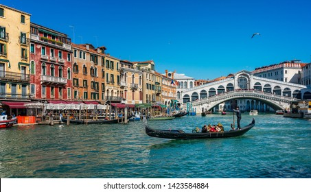 Italy; Venice, March, 10, 2019, houses, gondolas, sights, canals and other places in the lagoon city