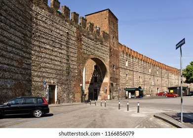 Italy,  Verona. Fortifications were under construction with breaks since the Roman Empire and till the 19th century