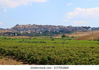 Italy: View of Sambuca di Sicilia.