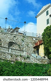 Italy-A view of the terrace in the town Rio Nell´elba on the island of Elba