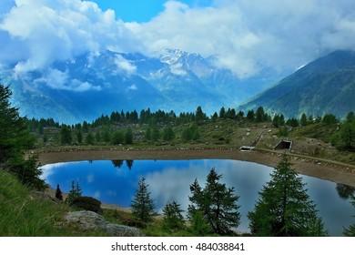 Italy-lake at the foot of Val Pejo
