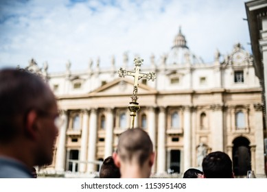 Italy-Rome - 7 September 2017 - celebration of the pilgrimage of the summit pontificum for the tenth anniversary, priests and religious and nuns in procession through the streets of Rome and Vatican