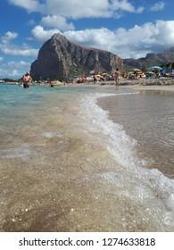 Italy.Sicily. beach- San Vito Lo Capo