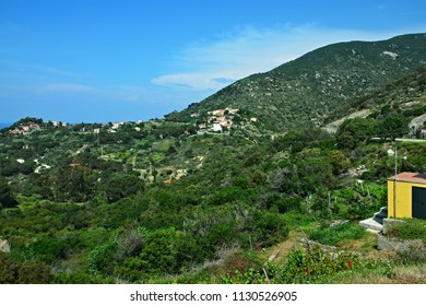 Italy-view from Colle D´orano on the island of Elba