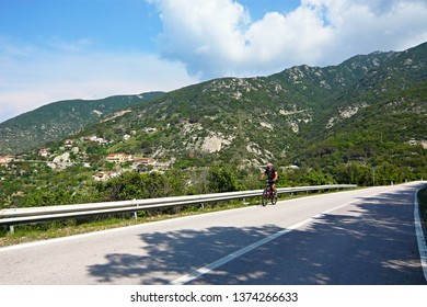 Italy-view on the cyclict near village Colle D´orano on the island of Elba