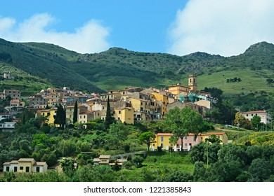 Italy-view on town Rio Nell´elba on the island of Elba