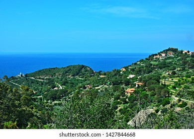 Italy-view on village Colle D´orano on the island of Elba
