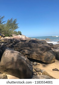 Itapema beach in southern Brazil.