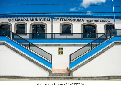Itapissuma, Brazil - Circa July 2019: Historic building now being used as the city council in the historic center of Itapissuma