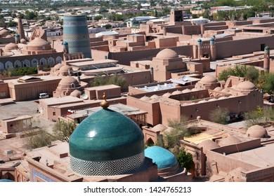 Itchan Kala: Archaic silk road city of Khiva, Khwarazm, Uzbekistan