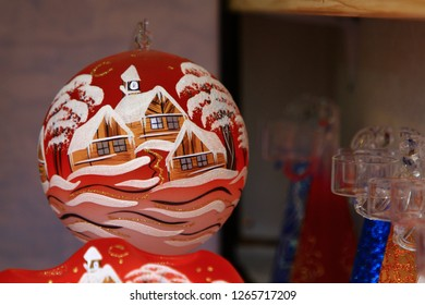 items at a Christmas market