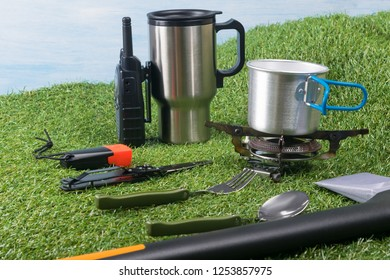 items for cooking and snacking outdoors during extreme vacation
