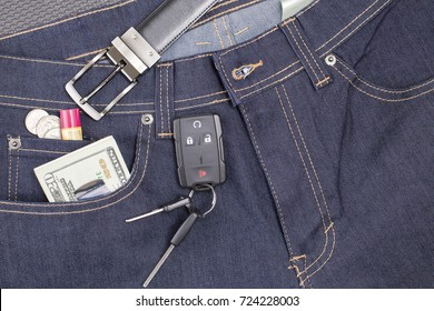 Items found in blue jean pockets.