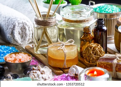 Items for spa massage.