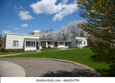 ITHACA, NY - Aug 23, 2010 : Maplewood community apartment for graduate students, Cornell University