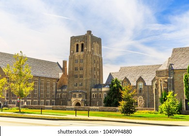 ITHACA, NY/USA - SEPTEMBER 1, 2017: A View at Buildings of Cornell University
