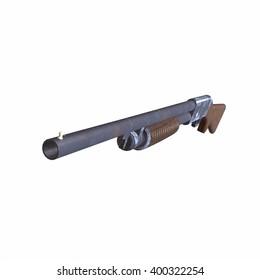 Ithaca old shotguns 3D illustration