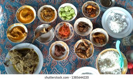 Itiak Lado Ijo is traditional minang food from Bukittinggi, Indonesia