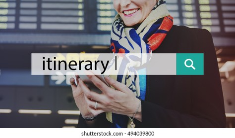 Itinerary Aboard Boarding Passenger Tourism Concept