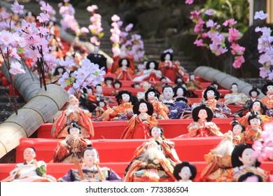 Ito,Shizuoka/Japan-Mar.5.2017: Japanese traditional doll festival for girls 'Hinamatsuri'.