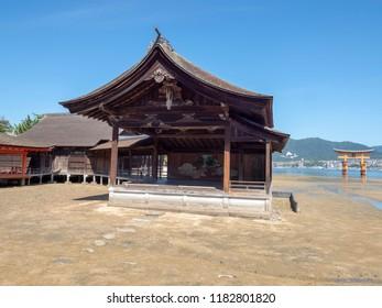 """Itsukushima Shrine, Japan. Itsukushima Shrine is a Shinto shrine on the island of Itsukushima (popularly known as Miyajima), best known for its """"floating"""" torii gate."""