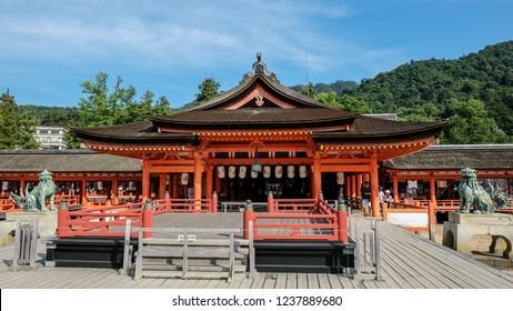 Itsukushima Shrine, shinto shrine on the island of Itsukushima, known as Miyajima