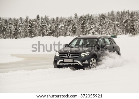 IVALO FINLAND January 28 2016 Winter Stock Photo (Edit Now