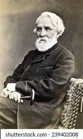 Ivan Sergeevich Turgenev (1818-1883) Russian realistic novelist and short story writer contrasting rural life, with urban intelligentsia leading Russia into the modern European world. ca.1880.