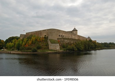 Ivangorod fortress near Estonian border, Leningradskaya region, Russia