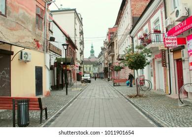Ivano-Frankivsk / Ukraine - 29 October 2017 / Ukraine: European town Ivano-Frankivsk Western Ukraine. Ivano-Frankivsk city views: the central part of the city. 29 October 2017 Ivano-Frankivsk, Ukraine
