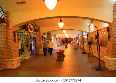 Ivano-Frankivsk / Ukraine - 29 October 2017 / Ukraine: Underground souvenir shops in Ivano-Frankivsk. 29 October 2017 Ivano-Frankivsk, Ukraine.
