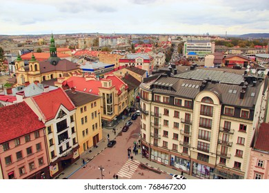 Ivano-Frankivsk / Ukraine - 29 October 2017 / Ukraine: nice architechture of Ivano-Frankivsk. View from above. 29 October 2017 Ivano-Frankivsk, Ukraine.