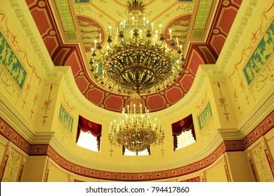 Ivano-Frankivsk / Ukraine - 29 October 2017 / Ukraine: inside beautiful Armenian church in Ivano-Frankivsk town in Weatern Ukraine. 29 October 2017 Ivano-Frankivsk, Ukraine.