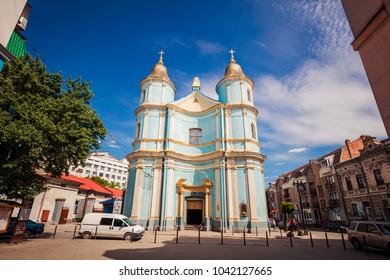 Ivano-Frankivsk, Ukraine - May 21, 2017: Ivano-Frankivsk , Armenian church