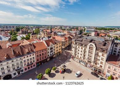 Ivano-Frankivsk, Ukraine - May 21, 2017: Ivano-Frankivsk , View from city hall