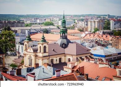 Ivano-Frankivsk, Ukraine - May 21, 2017: Ivano-Frankivsk , Church of Virgin Mary