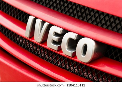 Iveco truck logo on a truck in Boras Sweden september 2018