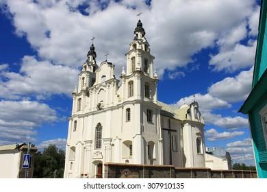 Ivenets, Belarus - August 16, 2015: St. Michael Angelo catholic church