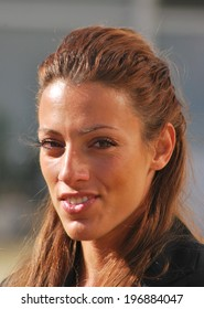 Ivet Lalova - (Born 18 May 1984 in Sofia) is a Bulgarian athlete who specialises in the 100 metres and 200 metres sprint events.  Picture taken - 11.2.2011