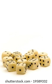Ivory Dice with Copy Space