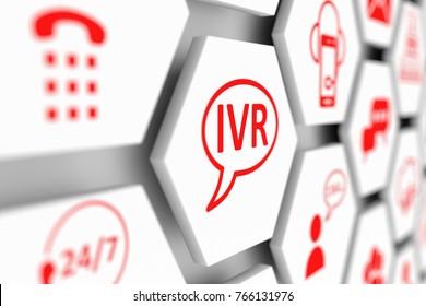 IVR concept cell blurred background 3d illustration
