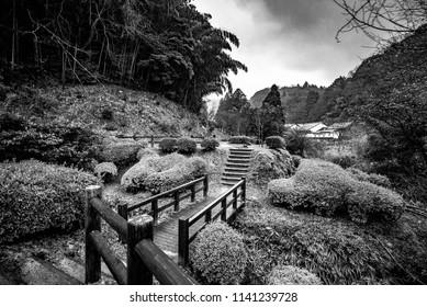 Iwami Ginzan Silver Mine, Ōda, Shimane Prefecture, Chūgoku(San'in-San'yō) region, Japan, January 2017: A way to heritage site