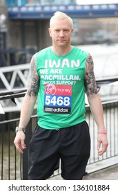 Iwan Thomas at the Virgin London Marathon - Celebrities photocall London. 17/04/2013 Picture by: Henry Harris