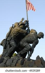 The Iwo Jima Memorial located in Rosslyn, Virginia