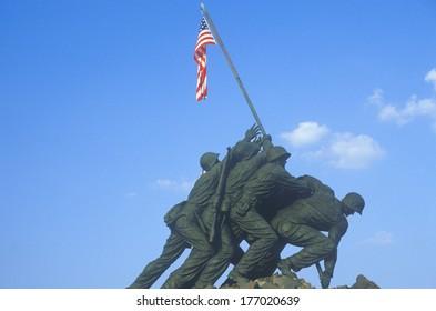 Iwo Jima United States Marine Corps memorial statue in Arlington, Virginia